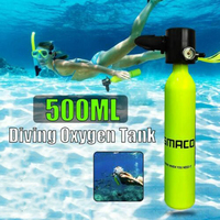 Mini Diving Oxygen Tank Underwater Snorkel Respirator Breathing Oxygen Bottle Adult Swimming Equipment