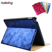 Case For IPad 4 Cover New Arrive Gold Wire Pattern Flip Stand PU Leather CaseTablet Designer