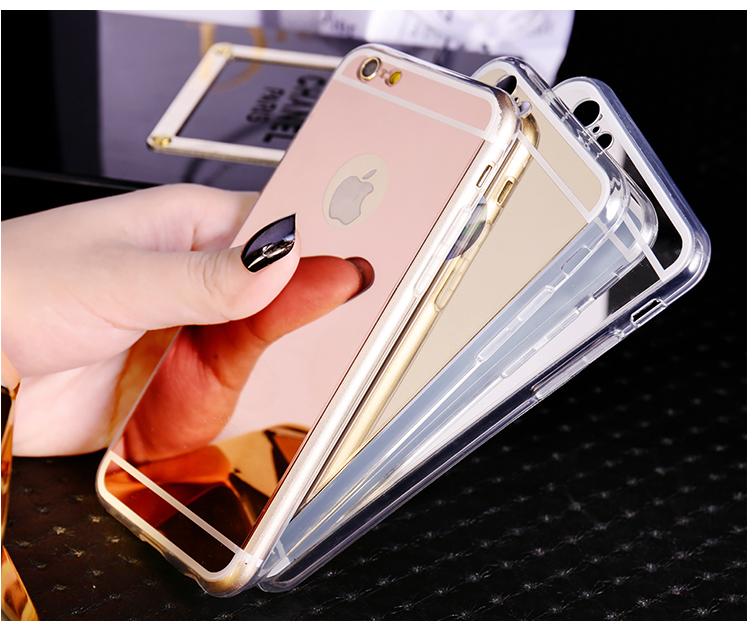 For iPhone 7 7Plus Luxury New Fashion Mirror Soft TPU Back Cover Case For iPhone 4 4S 5 5S SE 6 6S 6Plus 6SPlus Case Capa Shell