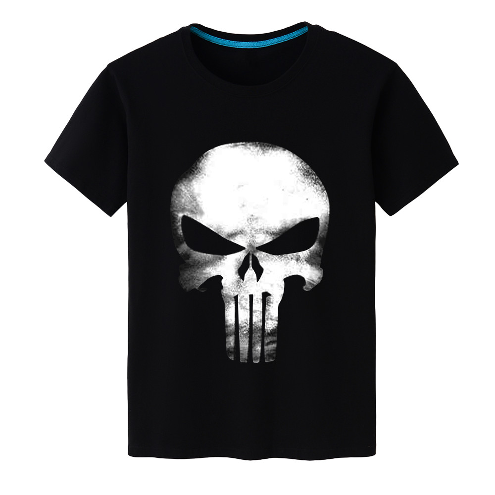 100% Cotton Men's T-shirts Super Hero Punisher Short Sleeve t shirt Fashion/Casual/Hipster Tops 2018 Men's Cool Design Tees