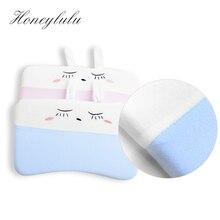 Honeylulu Cartoon Pleuche Baby Shaping Pillow Memory Foam Baby Pillow Four Seasons Elasticity Pillow For Newborns Breathable