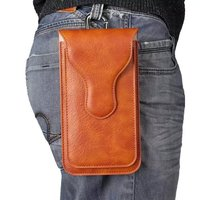 Man Belt Clip Outdoor Pouch Mobile Phone Leather Case Bags For Xiaomi Redmi Note 4 MediaTek