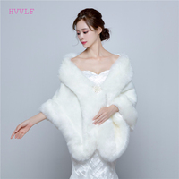 2019 Wedding Bolero Jacket Womens Faux Fur Coat Ivory Winter Jackets Bridal Coats And Wraps Shawl For Brides