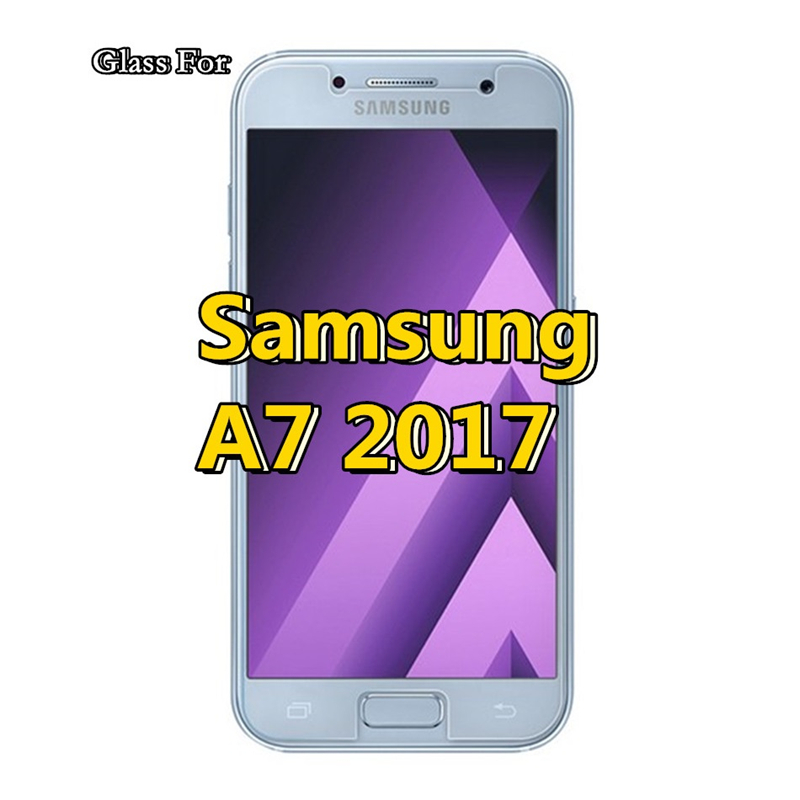 Tempered glass Protective Film For Samsung Galaxy A7 2017 High definition Screen Protect samsung A720 A720F 5 7 inch in Phone Screen Protectors from Cellphones Telecommunications