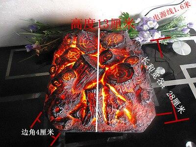 Praça lareira elétrica simulação de carvão falso lenha fogueira atirar adereços museu salão ktv decorações arte artesanato festa
