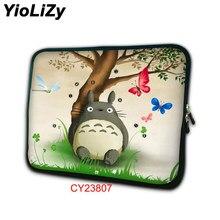 7645e4c1b5 Totoro impression Portable doublure manches 7 10 12 13 14 15 17 pouce Sac D'ordinateur  Portable tablet Case PC de couverture pou.