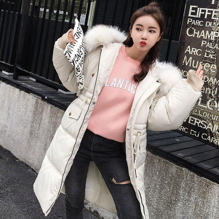 2018 winter women hooded coat fur collar thicken warm long jacket female plus size 3XL outerwear ladies Parkas down jacket