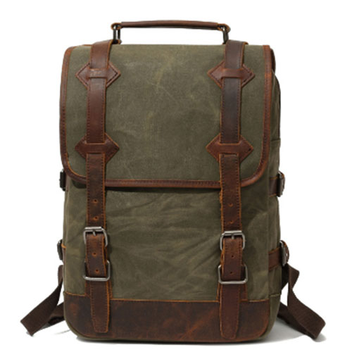 Waterproof Waxed Canvas Backpack Men Backpacks Leisure Rucksack Travel School Bag Laptop Bagpack men vintage shoulder bookbags xincada men backpack vintage canvas backpack rucksack laptop travel backpacks school back pack shoulder bag bookbag