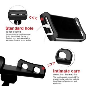 Image 3 - Car Phone Holder Headrest Bracket 360 Degree Universal Back Seat Stand Car Mobile Phone Holder For iPhone 6 7 8 Plus X Tablets