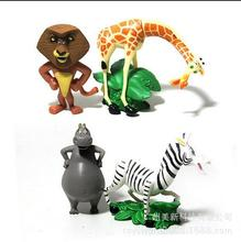 4pcs/lot Cartoon Movie Madagascar Action Figure Toys 9cm Alex & Marty& Melman & Gloria PVC Model Collection Dolls Free Shipping