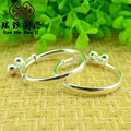 silver jewelry S990 fine silver cylindrical smooth character Bao Baoyin bell Bracelet in Sterling Silver Bracelet