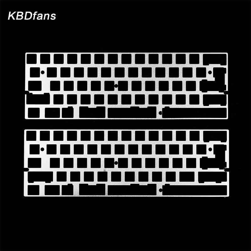 Alu plate for gh60 dz60 plate 2u left shift 2.25u left shift diy mechanical keyboard