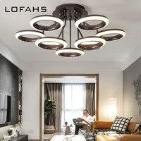 LOFAHS Large Modern led chandelier for living room bedroom dining room Multiple Lights white ceiling loft chandelier lighting
