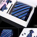 New arrival model 6pcs/set 100% Silk ties Men's Ties fashion Necktie set Plaid Stripe Mans Tie Neckties with gift box