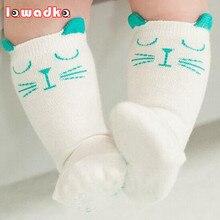 2015 Марка Белый И Серый Cat Детские Хлопок Девушки Носки Мода Meias Infantil Мальчиков Носки