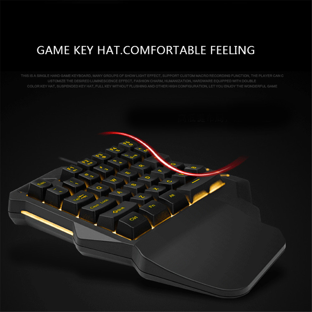 One Hand Mechanical Gaming Keyboard Half Keyboard Small Gaming Keyboards With Backlight -Drop