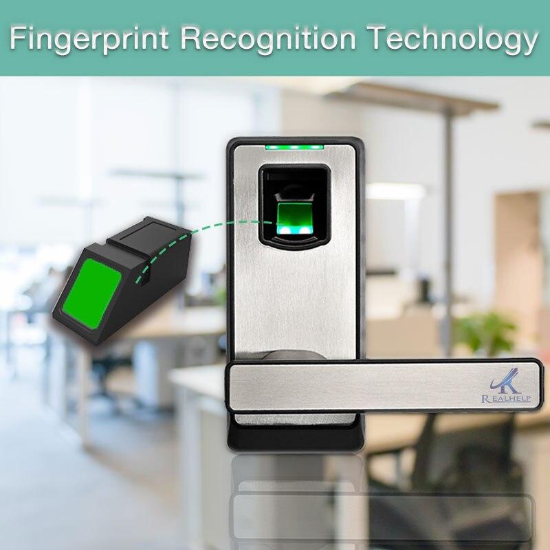 Single Latch Fingerprint Door Lock with admin management Reversible Handle for Right and Left Open the door Home Locks admin area