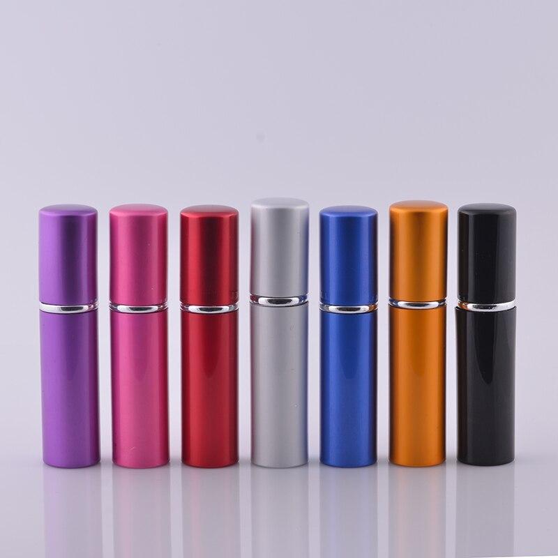 MUB 10 ml (50 ชิ้น/ล็อต) โปรโมชั่นอลูมิเนียมปั๊มน้ำหอม Sprayer ขวดน้ำหอมที่ว่างเปล่าคอนเทนเนอร์เครื่องสำอาง-ใน ขวดรีฟิล จาก ความงามและสุขภาพ บน   1