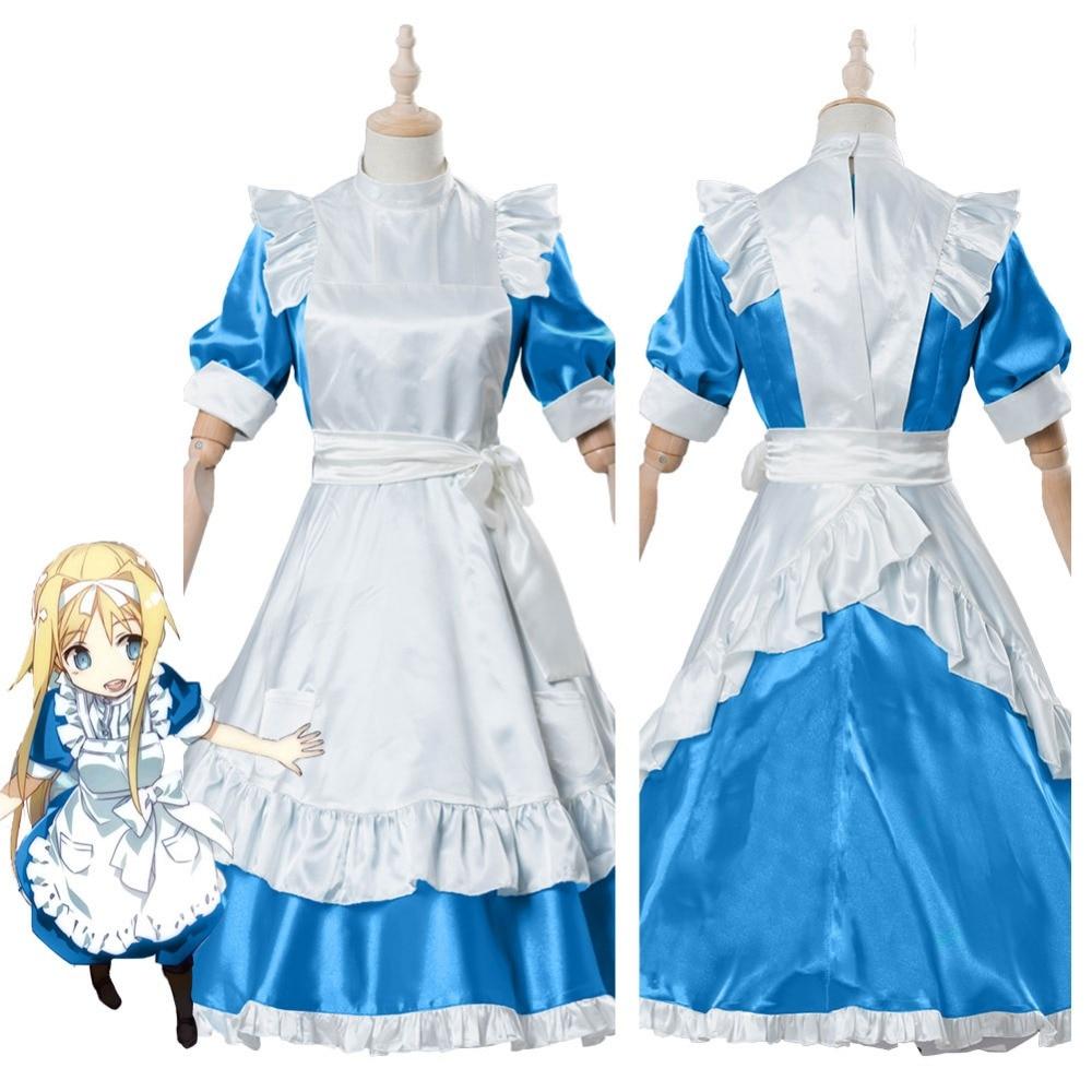 SAO Sword Art Online Alicization Alice Dress Cosplay Costume Adult Halloween Carnival Costumes For Women Girls Custom Made