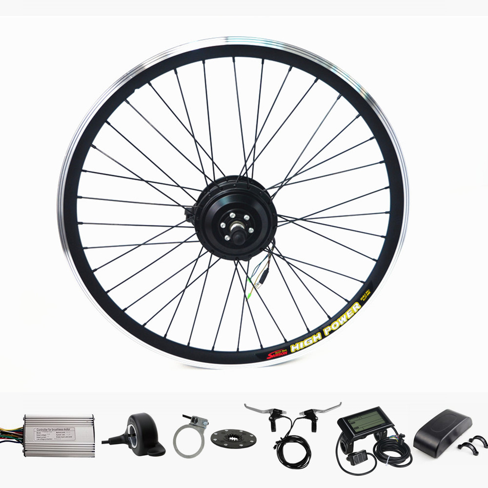 Electric Bike Motor Conversion Kit 36V 250W Front Wheel 20-29 Electric Bicycle Ebike Conversion Kit With 10ah Lithium Battery e bike 24v 800w motor with disc brakes hub electric bicycle ebike conversion kit front or rear wheel new details about
