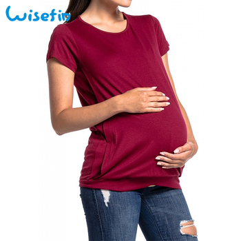 Women Breastfeeding Clothes Maternity T shirt Pregnancy Clothing Shirt Summer Pregnant Tops Plus Size Nursing Clothes D40