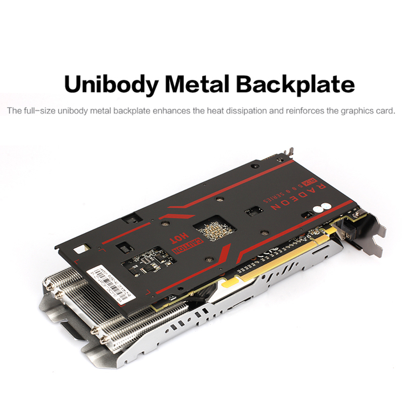 Yeston Radeon RX 580 GPU 8GB GDDR5 256 bit Gaming Desktop computer PC Video Graphics Cards support DVI/ HDMI PCI-E X16 3.0 5