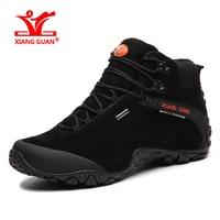 Brand XIANGGUAN Lovers Hiking Shoes Men Sneakers Women Climbing Sport Shoes Travelling Suede Calfskin Anti