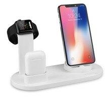 3в1 зарядная док-станция для airpods iPhone X XR XS Max быстрая зарядная док-станция для iPhone 8 7 Plus 6 S 6 быстрое зарядное устройство Apple Watch Charge