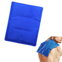 Newly Flexible Gel Ice Pack Wrap with Elastic Straps Therapy for Muscle Pain Bruises Injuries BF88