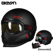 Beon ECE Motorcycle helmets winter motorbike anti-fog visor helmet Ope