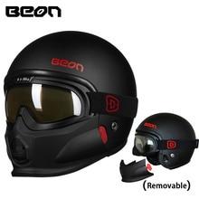 Beon ECE Motorcycle helmets winter motorbike anti-fog visor