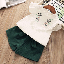 Girls Suits Summer Girls Clothing sets Children's clothing Girl Sleeveless T-shirt + Pant Fashion Style New Arrival Kids clothes