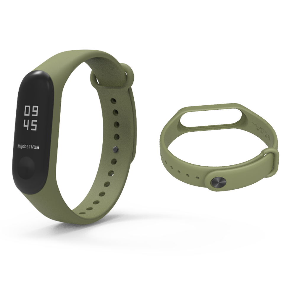 Image 4 - Bracelet Mijobs Mi Band 3 4 Strap Bracelet Silicone Wristband Miband 3 Strap Smart mi band3 Wrist for for Xiaomi Mi Band 3 Strap-in Smart Accessories from Consumer Electronics