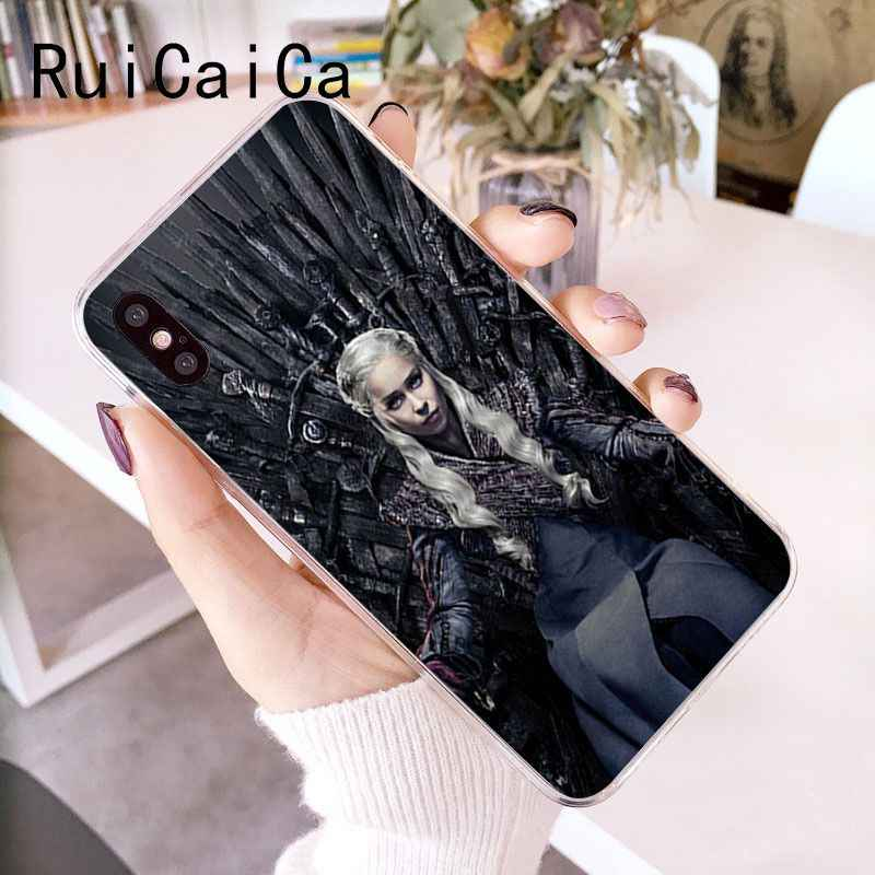 RuiCaiCa Juego de tronos Daenerys dragón Jon nieve novedad Fundas funda para teléfono para iPhone X XS X MAX 6 6 s 7 7 7 plus 8 8 Plus 5 5S SE XR