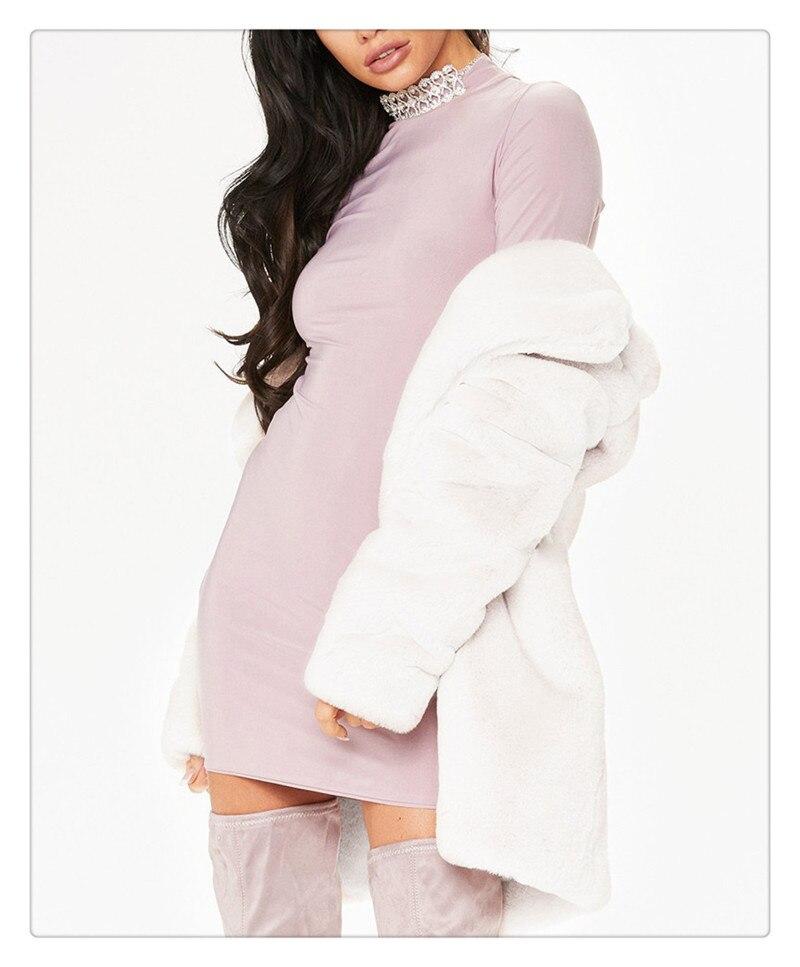 Imitation fur coat 2018 European and American women's wear long and loose plush soft rabbit hair (11)