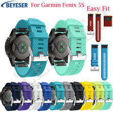 20MM Sport Watchband Strap for Garmin Fenix 5s Watch Quick Release Silicone Easyfit Wrist Band Strap For Garmin Fenix 5s Band все цены