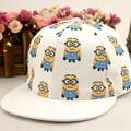 New children's hat flat along light yellow people hip-hop hat cartoon baseball cap wholesale