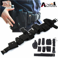 10 In 1 Outdoor Tactical Utility Belt Airsoft Hunting Security Guard Waist Belt System Gun Pack