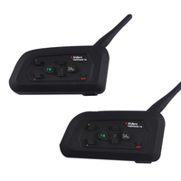 2 Pcs Lot V4 Motorcycle Helmet Bluetooth Intercom Headset With FM For 4 Riders 1200m