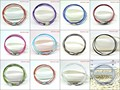 Wholesale 50pcs/lot 12 Colors 1mm Stainless Steel Bracelet Wire Cord For DIY Craft Jewelry Length 9inch 23cm Free Shipping