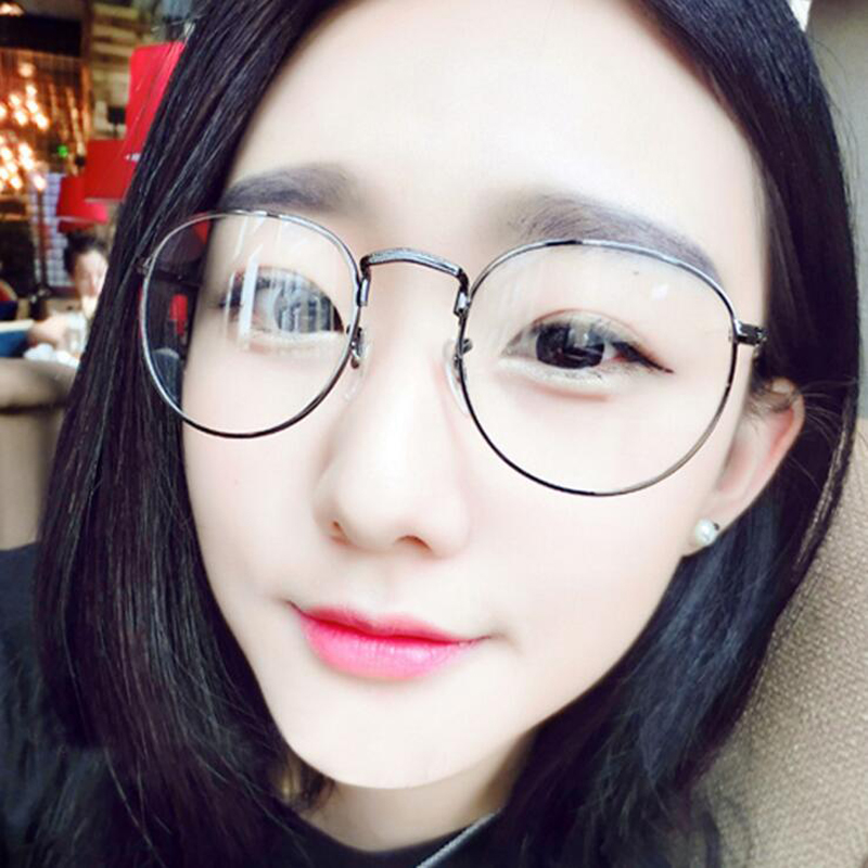 fcee0601908 2018 New Fashion Designer Clear Glasses Round Metal Gold Glasses Frame  Women Men Clear Lens Eyeglasses Eyewear-in Eyewear Frames from Apparel  Accessories on ...