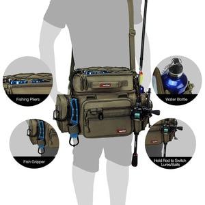 Image 5 - Piscifun Grote Capaciteit Vissen Tas Draagbare Multifunctionele Tackle Box Bag Multifunctionele Outdoor Wandelen Camping Bolsa De Pesca