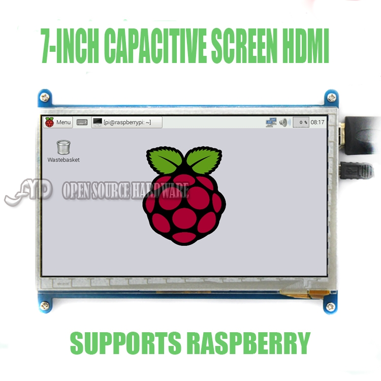7 inch LCD display HDMI display monitor Raspberry Pi3 800X480