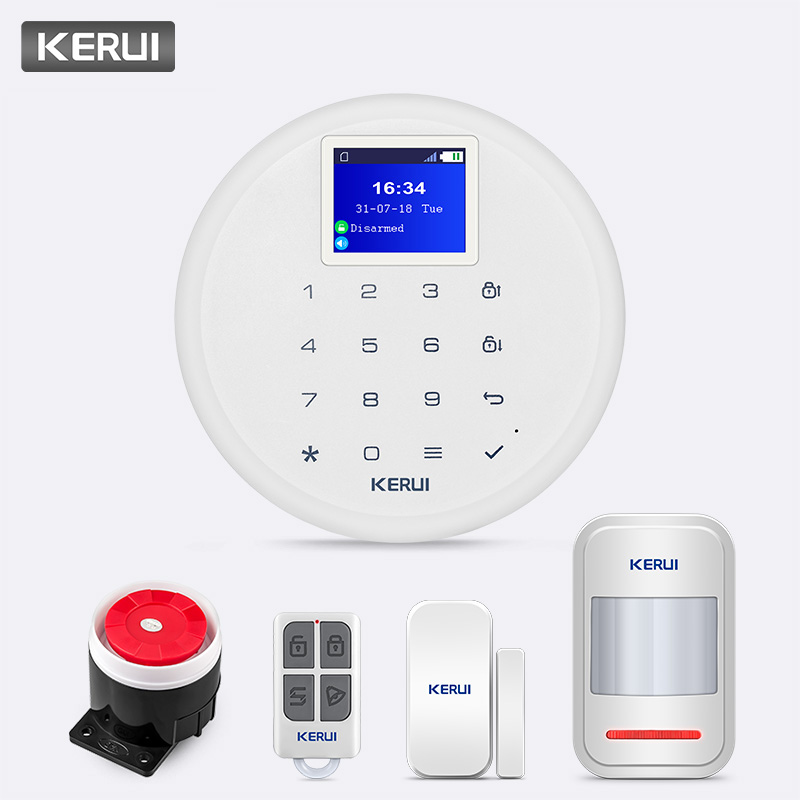 KERUI 433MHz 80dB G17 Wireless GSM Alarm System Massage Call Push Home Security IOS Android APP
