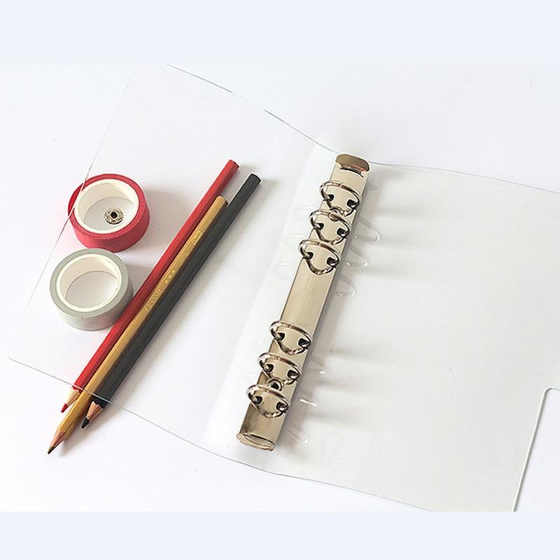 Plastic Clip File Folder for A5/A6/A7 Documents Agenda Loose Leaf Ring Binder Filing Paper Holder Office Supplies TransparentPlastic Clip File Folder for A5/A6/A7 Documents Agenda Loose Leaf Ring Binder Filing Paper Holder Office Supplies Transparent