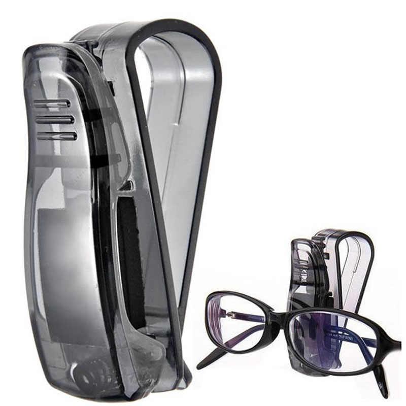 Mobil Styling Mobil Sun Kacamata untuk Penerimaan Kartu Klip Penyimpanan Pemegang Mobil Hitam 12.10
