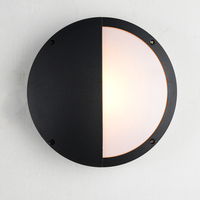 Modern Outdoor Wall Light Waterproof IP54 Porch Aluminum Wall Lamp For Home Garden Decoration Round Sconce