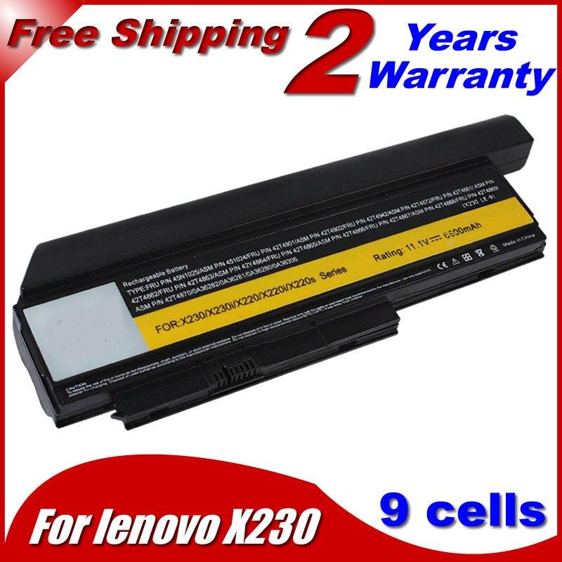 JIGU 6600MAH Laptop battery 42T4902 42Y4940 42Y4868 42T4873 42Y4874 42T4863 42t4866 For Lenovo for thinkpad X230 X220 X220i jigu 9cells laptop battery 42t4901 42t4902 42t4863 42y4864 0a36282 0a36283 for lenovo x230 x220 x220i x220s series