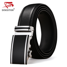DINISITON Genuine Leather belts for men Designers high quality Luxury automatic buckle belt Waist strap for Hombre male Fashion