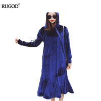 RUGOD Ladies Long Sleeve Winter Dresses Pull Femme Elegant Women Bodycon Dress Party Slim Fit Package